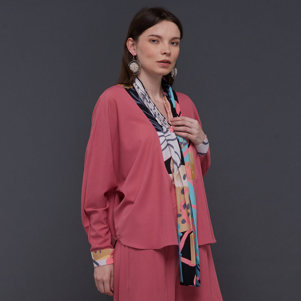 Hana Lounge Wear in Pink With My Journey Black (4822124199959)
