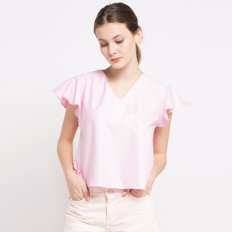 Kimono Cotton Blouse Soft Pink-2Madison Avenue Indonesia
