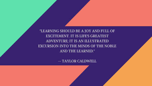 Learning should be a joy
