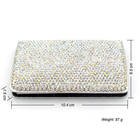 Handcraft  Rhinestone Portable Business Card Holder
