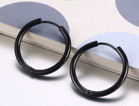 25 * 2 mm Stainless Steel Earrings