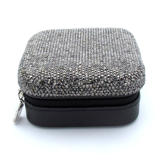 Handcraft  Rhinestone Travel Jewelry Box