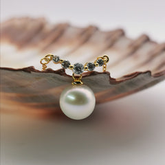 sterling silver gold rodium plated freshwater pearl necklace