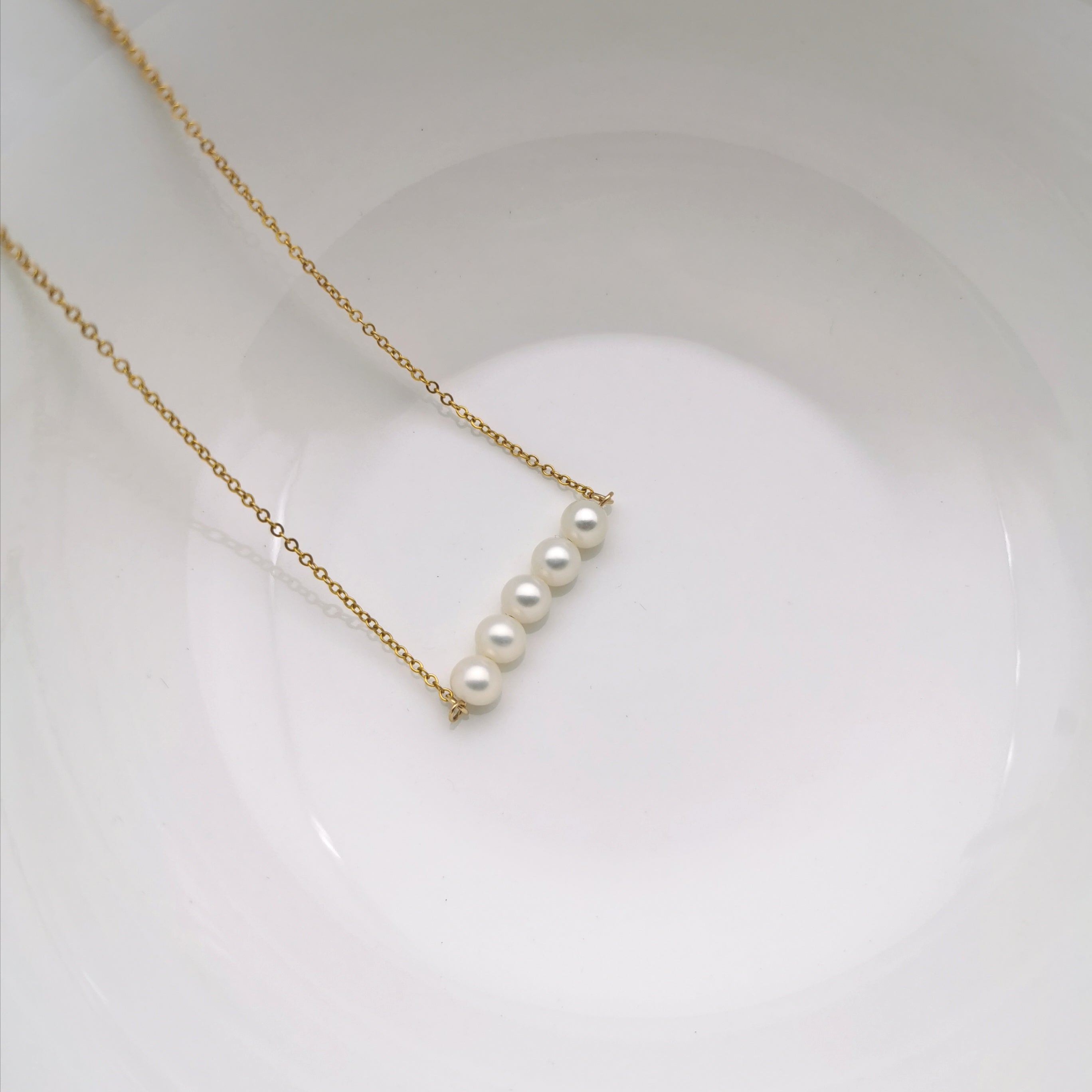 14ct gold filled chain with freshwater pearl necklace
