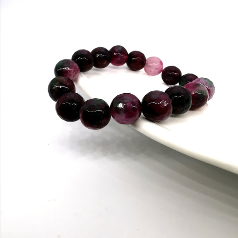 Colourful qurtz strech bracelet