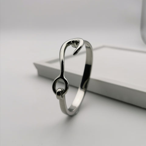 Unisex stainless steel bangle