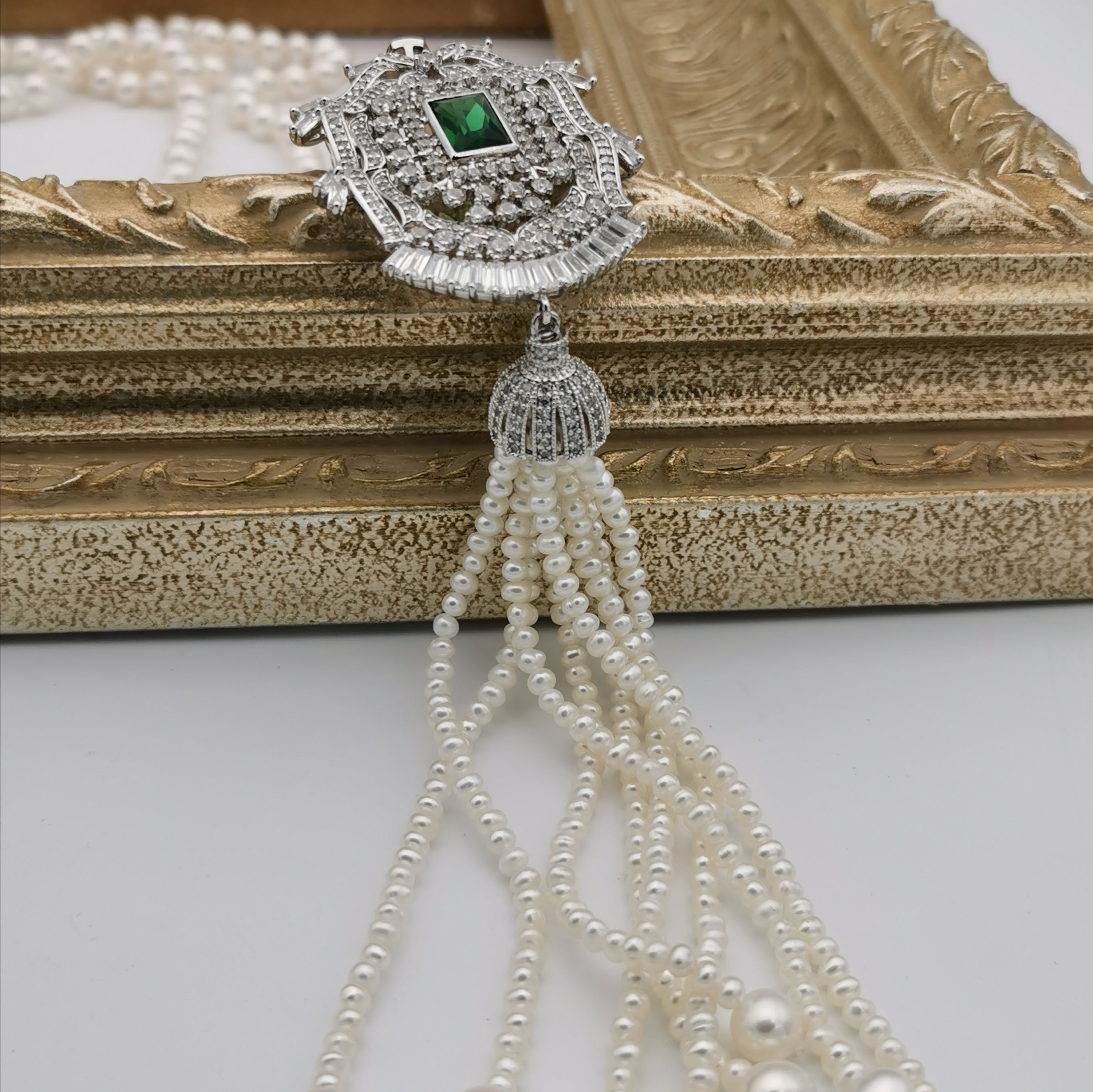 7.5-8mm freshwater pearl long necklace