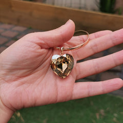 Swarovski element big heart necklace
