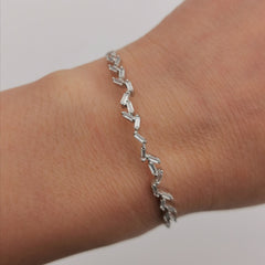 Adjustable sterling silver bracelet