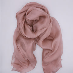 7 colours of mono tone silk scarf