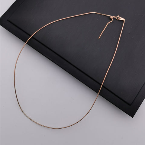 Rose gold rhodium plated sterling silver adjustable chain