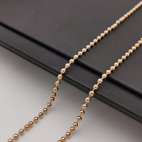Alloy ball rose gold rhodium plated long chain