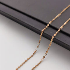 Rose gold rhodium stainless steel chain