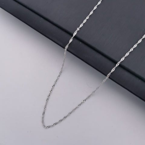 S925 sterling silver wave chain