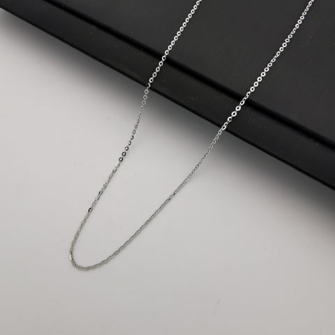 S925 sterling silver adjustable O chain