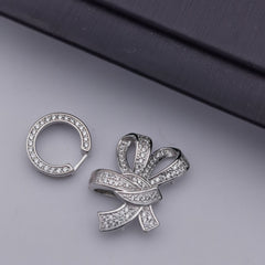 S925 sterling silver three layers clasp