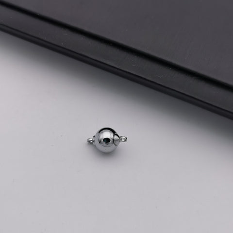 Stainless steel screw ball clasp