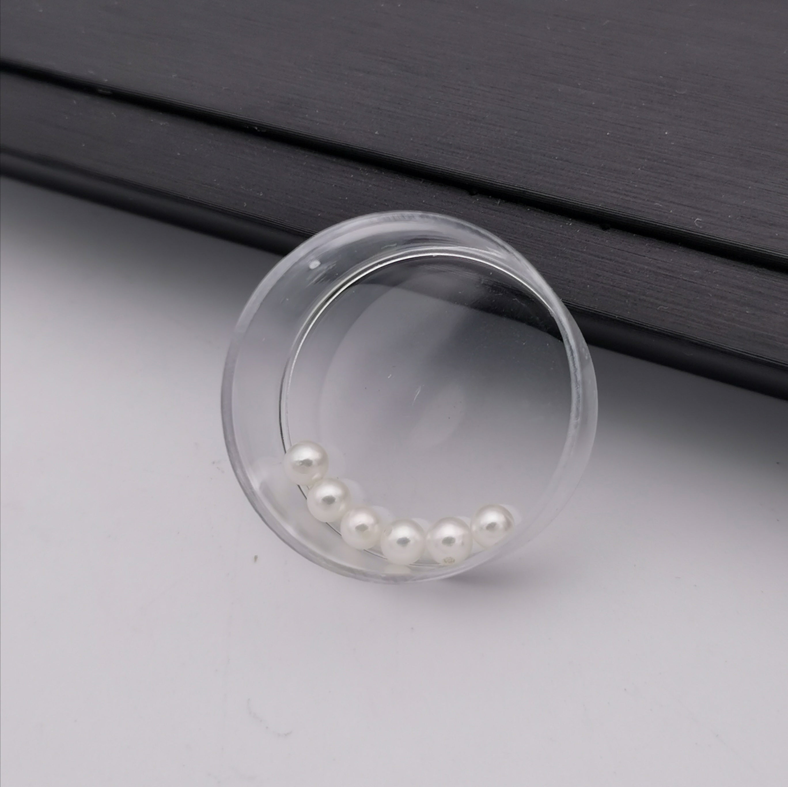 3.5mm-4mm genuine excellent lustre Akoya mini round loose pearl half drilled