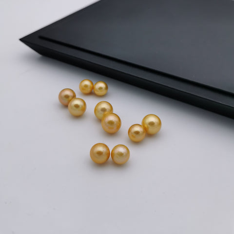 8.5 mm-11 mm genuine freshwater gold colour coated loose pearl beads