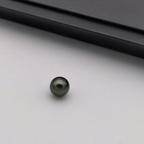 8.65 mm genuine round shape black Tahitian loose pearl