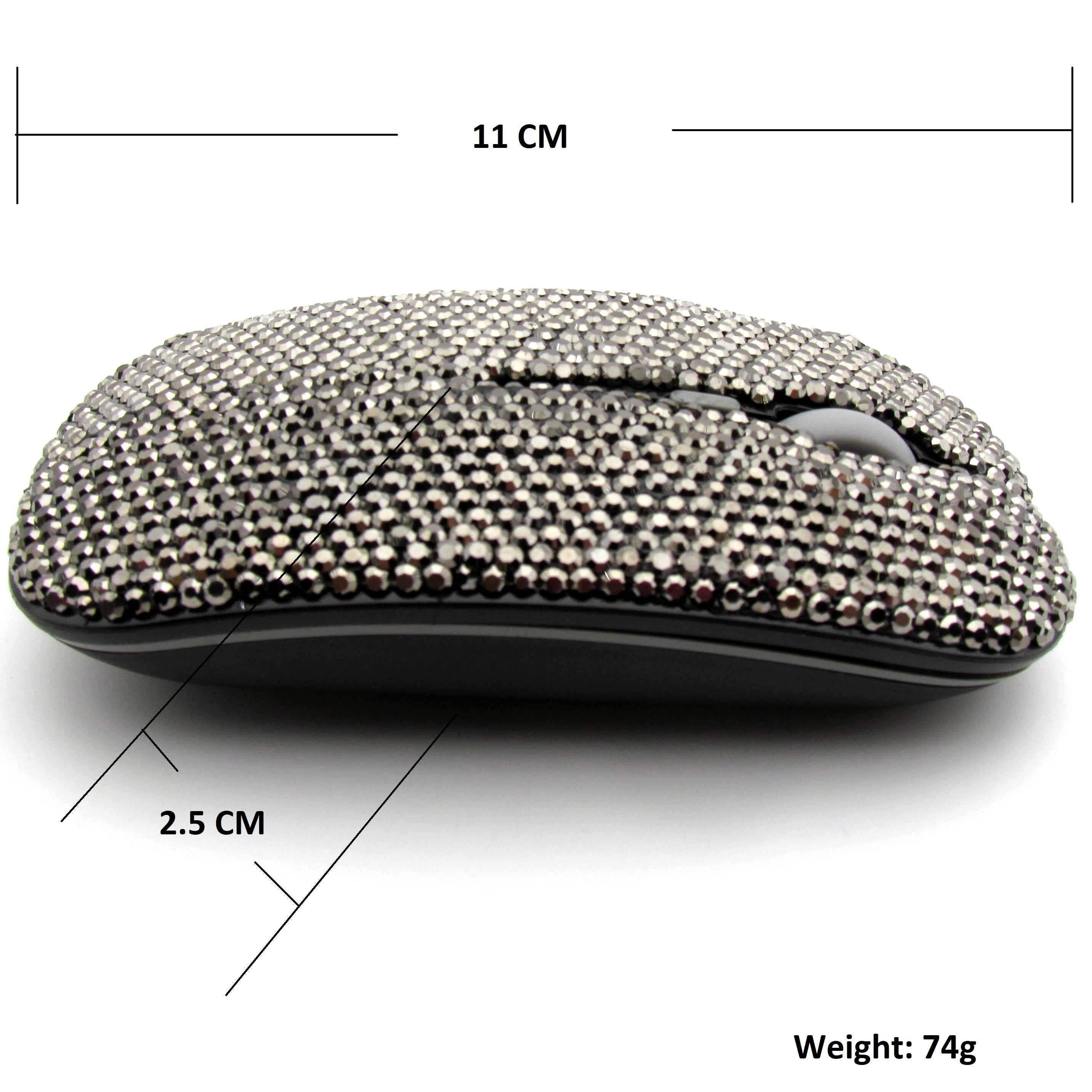Hand inlaid bling wireless mouse