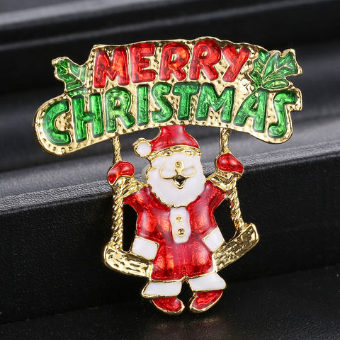 Christmas theme brooch