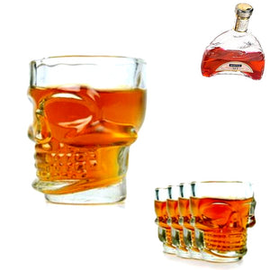 Head skull shot glass x4 - Wilder Party