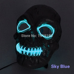 Voice Control Neon LED Zombie Mask - Wilder Party