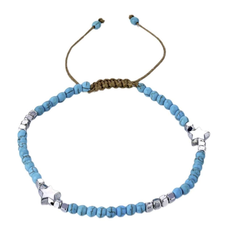 Nalu Jewels Turquoise Summer Star Anklet Adjustable