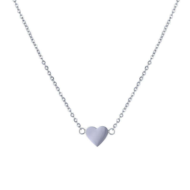 Nalu Jewels Love Heart Necklace Silver