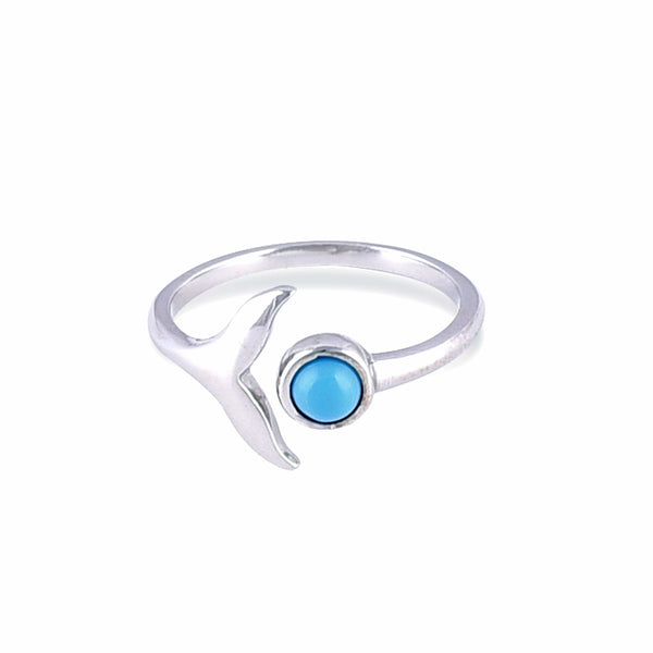 Nalu Jewels Whale Tail Ring Adjustable