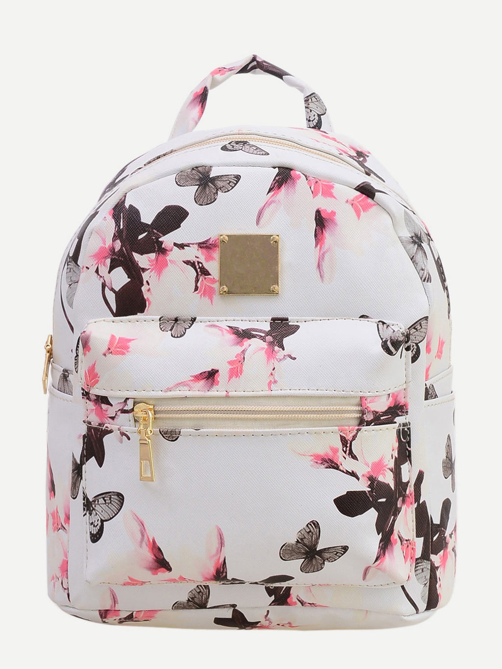 Vintage  Print Backpack