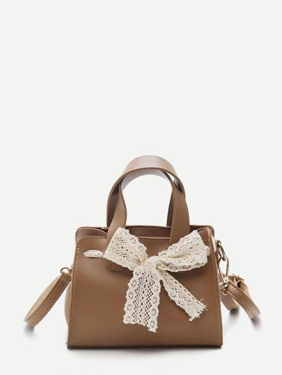Bow  Decoration  Shoulder Bag With Handle