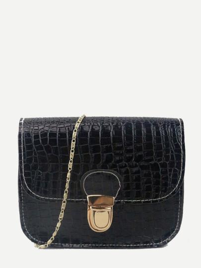 Croc Printed  Chained Bag