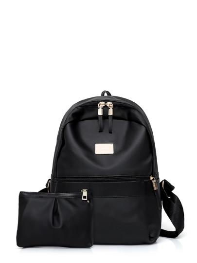 Genuine leather Backpack With Clutch