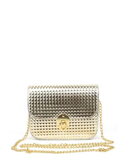 Flap Chain Bag Metal shine