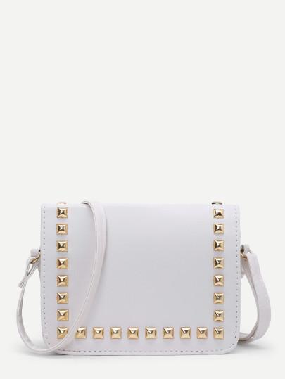 Flap Bag with Stud with Strap adjustable