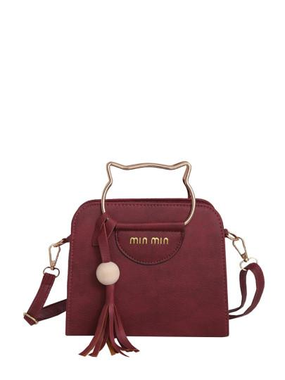 Tassel Shoulder Bag With Convertible Strap