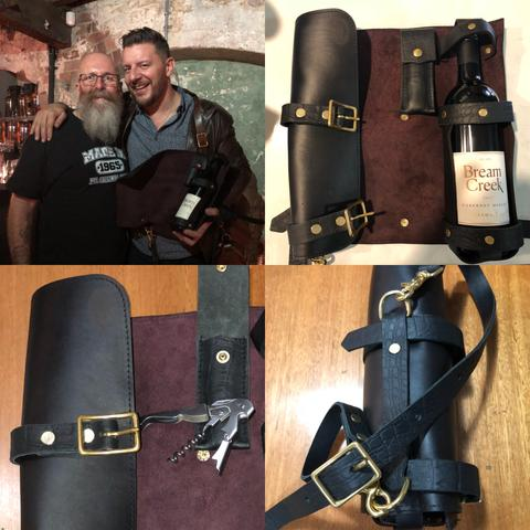 Leather Wine Roll