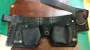 BLACK LEATHER Tool Belt - With added back support