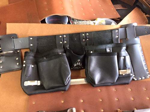 BLACK LEATHER Tool Belt