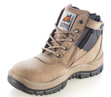 MONGREL 261060 ZIP SIDE BOOT STONE - REDZ WORKWEAR
