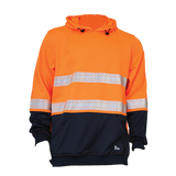 KM M3132T HIVIS PULLOVER FLEECE HOODIE WITH SEGMENTED TAPE