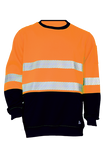 KM M3231T HI VIS FLEECE JUMPER WITH TAPE
