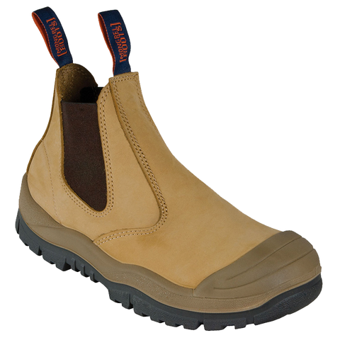 MONGREL 440050 ELASTIC SIDED SAFETY BOOT WITH SCUFF CAP - WHEAT