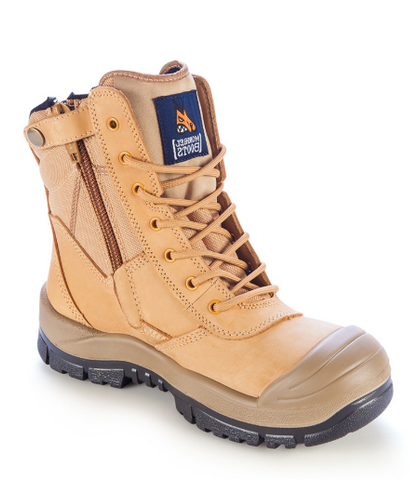 MONGREL 451050 HIGH LEG ZIPSIDER BOOT WITH SCUFF CAP - WHEAT