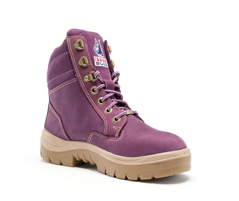 STEEL BLUE 522760 LADIES SOUTHERN CROSS PURPLE - REDZ WORKWEAR