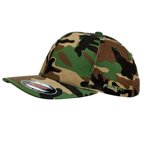 FLEXFIT CAMO 6277 GREEN - REDZ WORKWEAR + TOOLS NORTH LAKES