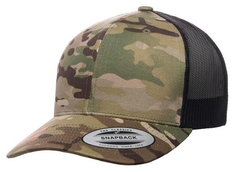 FLEXFIT 6606MC RETRO TRUCKER MULTICAM - REDZ WORKWEAR