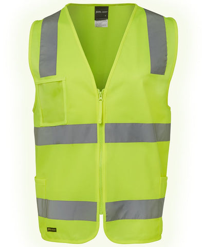 JB 6DNSZ HIVIS D+N VEST ZIP - REDZ WORKWEAR + TOOLS NORTH LAKES